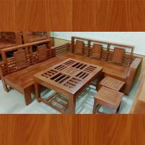 salon góc gỗ xoan